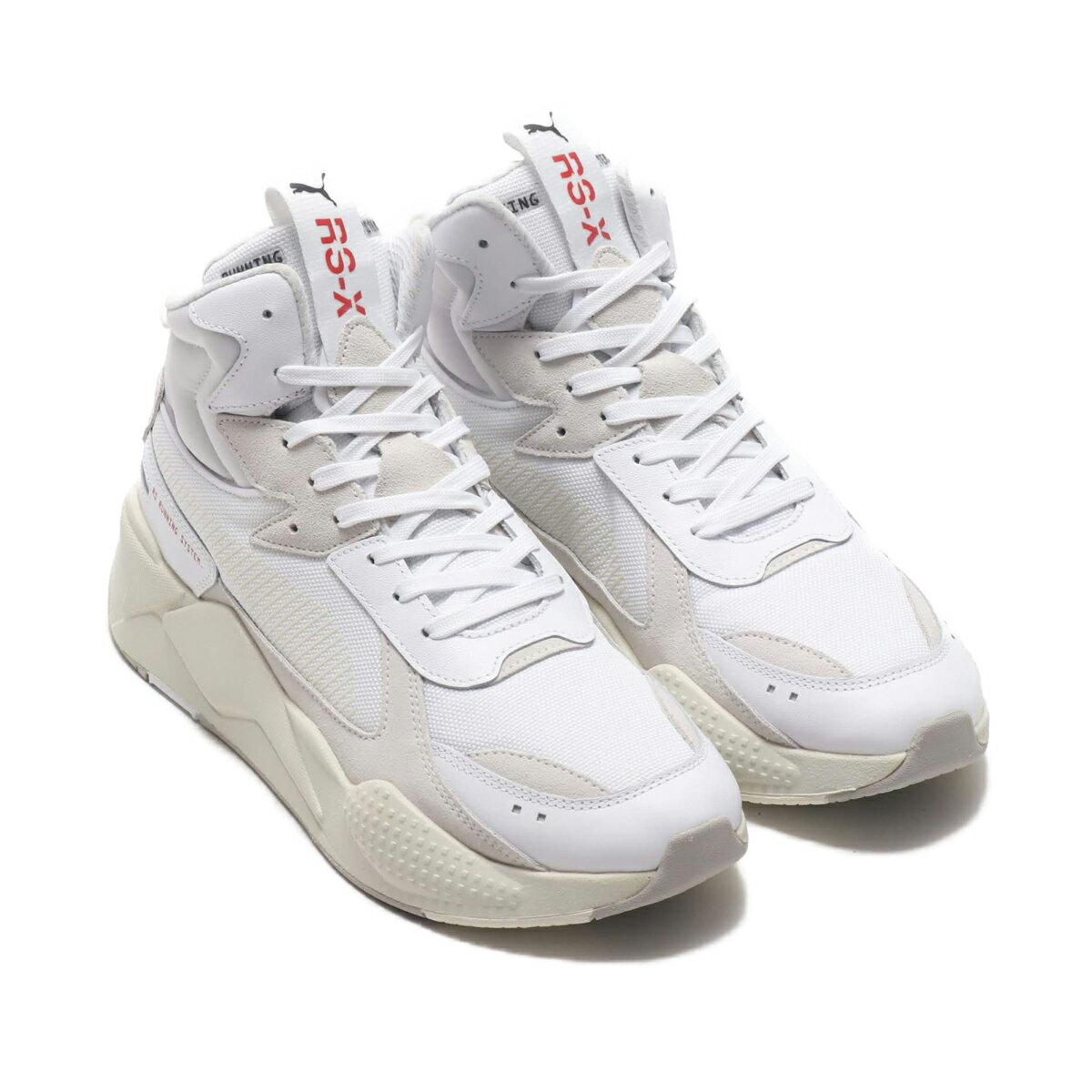 メンズ靴, スニーカー PUMA RS-X MIDTOP BINARY CODE( RS-X )PUMA WHITE 19HO-I at20-c