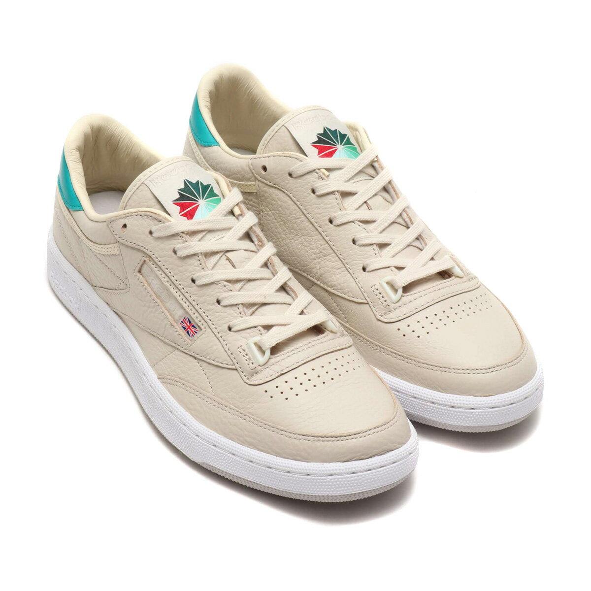 メンズ靴, スニーカー Reebok CLUB C 85 PACKER( C 85 )STACOPAPER WHITEEMERALD HAYESJIN GRAY 18FW-I