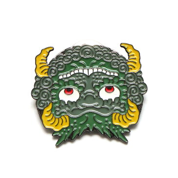 UBIQ IREZUMI PINS THREE TIDES TATTOO (ユービック ピンズ スリータイズタトゥー) (KIMENCHIRASHI (SAKASA) Designed by GANJI)【ピンバッヂ】17FA-I