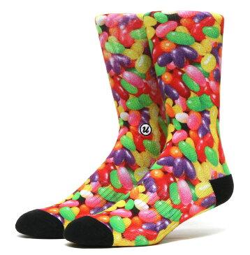 UBIQ SOCKS -Jelly Beans- (ユービック ソックス -ジェリービーンズ-) BLACK【メンズ ソックス】17FA-I