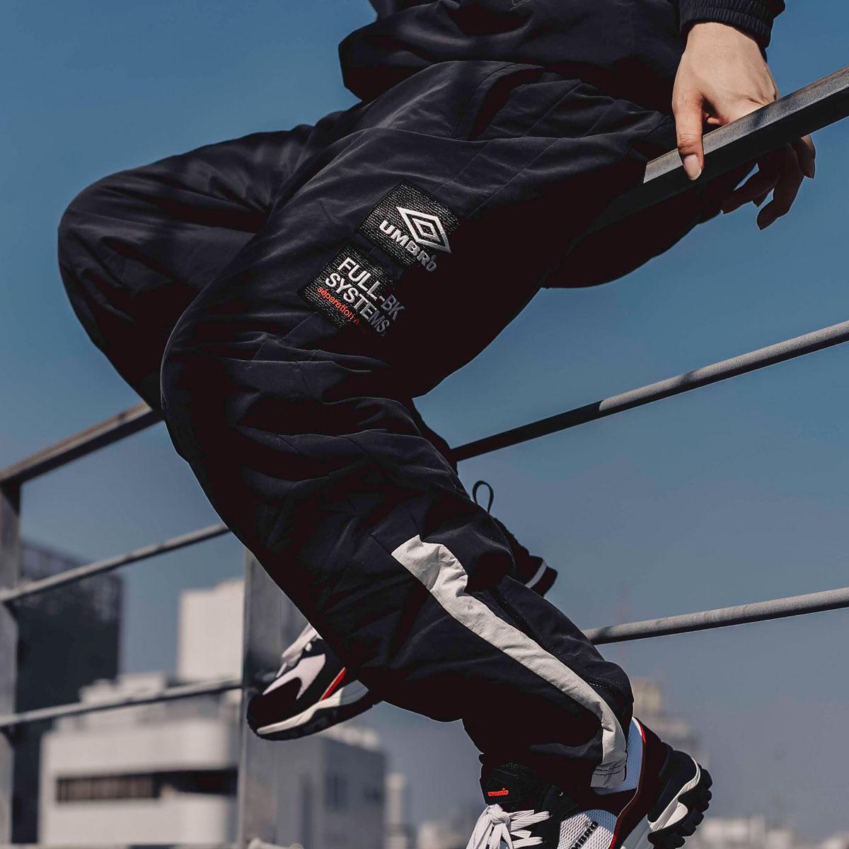メンズファッション, ズボン・パンツ UMBRO FULL-BK ATMOS BREAKER PANTS( ) 19FA-S