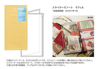 ★ available ★ TRAVELER's notebook Midori トラベラーズノートリフィル zipper case