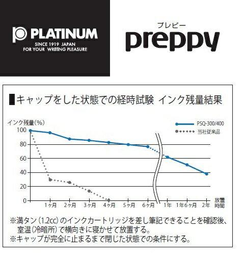 プラチナ preppy プレピー万年筆【03/05mm/透明カラー軸】