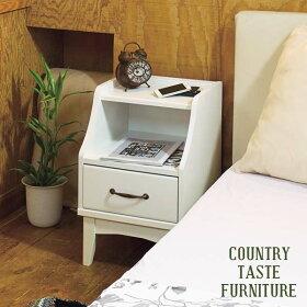サイドテーブル北欧ナイトテーブルラックテーブルリビングインテリアベッドサイドテーブルローテーブルホワイト寝室ベッドサイドソファサイド引き出しデザイン白台かわいい引き出し収納おしゃれ高さ57cm白家具カントリー幅37cm送料無料