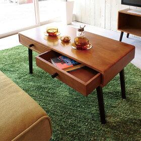 ローテーブルセンターテーブル木製リビングテーブルテーブルソファーテーブル引き出しコーヒーテーブルおしゃれ北欧机カフェテーブル作業台センターミッドセンチュリー可愛い新生活リビングインテリアロータイプ