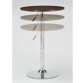 カウンターテーブル円形丸テーブルバーテーブル丸カフェ風ティーテーブル60昇降式ハイテーブルカフェテーブルダイニングテーブルラウンドテーブルブラウンガス圧テーブル北欧円卓おしゃれひとり暮らしモデルルーム通販ハイタイプ