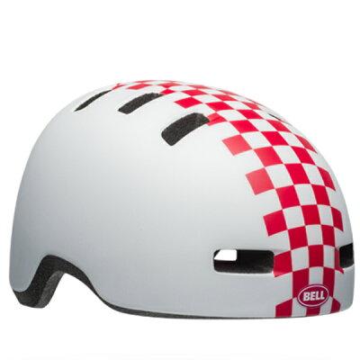 ベル子供ヘルメットリルリッパーBELLLILRIPPERマットホワイト/ピンクチェッカーズUC(47-54cm)7104370