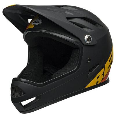 ベルBMXフルフェイスヘルメットサンクションBELLSANCTIONマットブラック/イエロー/オレンジSサイズ(52-54cm)7100140