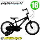 【即納】【在庫あり】MARIN マリン 2017 DONKY Jr 16 16インチ Mat Black アルミフレーム 子供用 キッズ 自転車