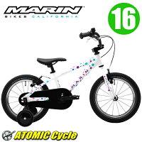 MARINマリン2017DONKYJr1616インチGlossPolkaDotアルミフレーム子供用キッズ自転車