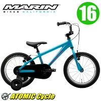 MARINマリン2017DONKYJr1616インチMatTurquoiseアルミフレーム子供用キッズ自転車
