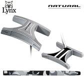 リンクス ゴルフ ナチュラル MM パター センターシャフト ブラック×ホワイト LYNX NATURAL【リンクスゴルフ】【ナチュラルMM】【パター】【LYNX】【NATURAL】【PUTTER】