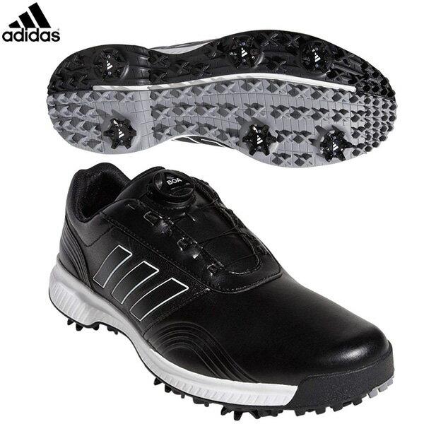 アディダス ゴルフ CP トラクション ボア BTE47 ゴルフシューズ コアブラック/ホワイト/シルバーメット adidas