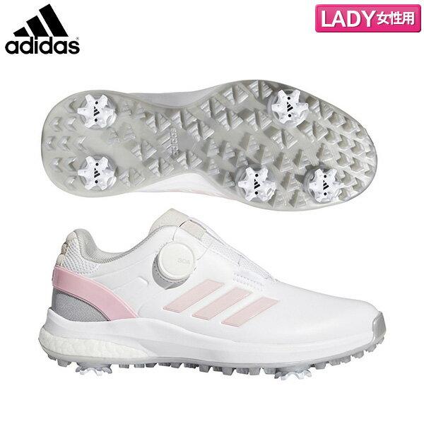【レディース】 アディダス ゴルフ EQT ボア KZK53 ゴルフシューズ フットウェアホワイト/ライトピンク/シルバーメタリック(FW6285) adidas