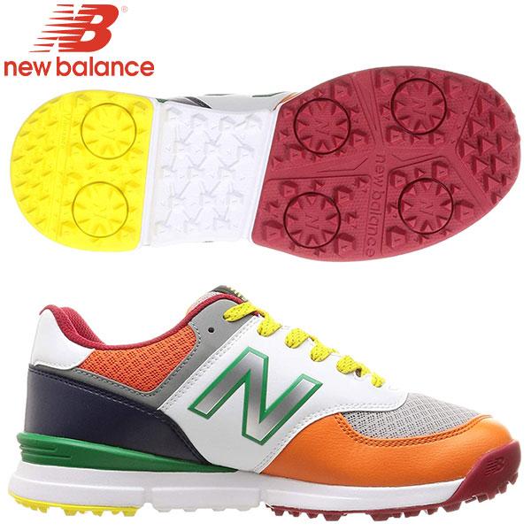 土日祝も出荷    ニューバランスゴルフUGS574シューレーススパイクレスゴルフシューズマルチカラー(MC)newbalan