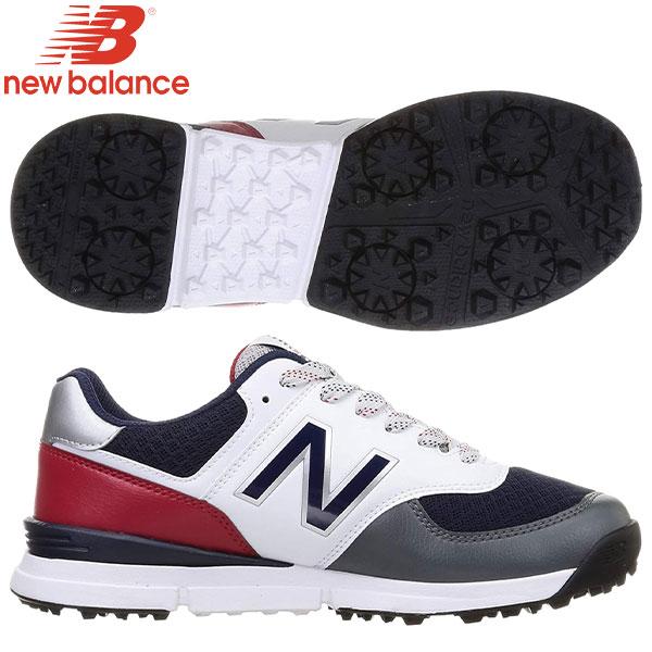 土日祝も出荷    ニューバランスゴルフUGS574シューレーススパイクレスゴルフシューズトリコロール(TR)newbalan