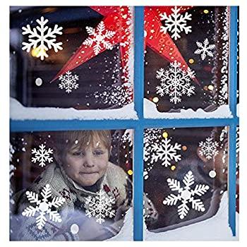 【中古】【輸入品・未使用未開封】SUNBOOM クリスマスデコレーション 雪の結晶 ウィンドウ ステッカー スノーフレーク ステッカー ウィンドウ デカール 子供用 [100枚以上] ホワイ