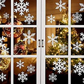 【中古】【輸入品・未使用未開封】Leofanger クリスマスウィンドウステッカー 雪の結晶 静電気 窓用ステッカー 壁用デカール 白雪の結晶 クリスマスデコレーション DIY 雪の結晶