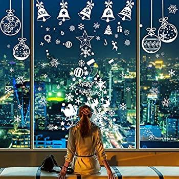 【中古】【輸入品・未使用未開封】Gejoy クリスマス スノーフレーク ウィンドウステッカー ホワイト 雪の結晶 静電気シール クリスマス ホリデー 新年 冬 パーティー装飾 合計10枚