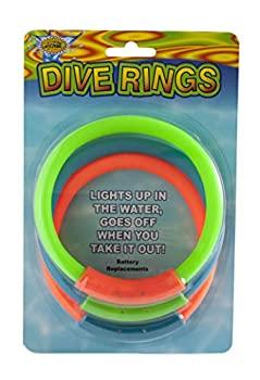 【中古】【輸入品・未使用未開封】水スポーツLighted Dive Ringsプールアクセサリー( 3ピース)、アソートカラー、8?