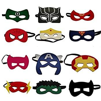 【中古】【輸入品・未使用未開封】VANVENE スーパーヒーローパーティーマスク 子供用   スーパーヒーローマスク付き   スーパーヒーローコミックマスク12ピース 男の子と女の子の画像