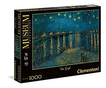 【中古】【輸入品・未使用未開封】1000ピース ジグソーパズル Clementoni ゴッホ ローヌ川の星月夜 van Gogh: Starry Night Over the Rhone 50×69cm 39344画像