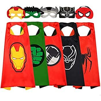 【中古】【輸入品・未使用未開封】NuGeriAZ スーパーヒーロー おもちゃ 男の子とマスク 子供用 アベンジャーケープ ドレスアップ 3〜10歳 スーパーヒーローコスチューム 男の子用画像
