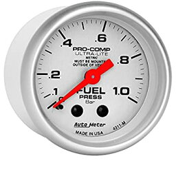 【中古】【輸入品・未使用未開封】オートメーター 4311-M 超軽量機械燃料圧力計