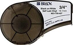 【中古】【輸入品・未使用未開封】Brady M21-750-427 14' Length 0.75 Width B-427 Self-Laminating Vinyl Black On White/Translucent Color BMP 21 Mobile Printer Label by Bra