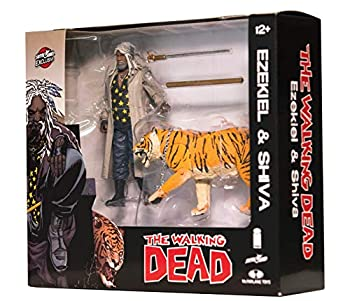 【中古】【輸入品・未使用未開封】The Walking Dead Ezekiel & Shiva All Out War Action Figures画像
