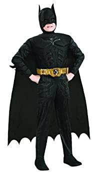 【中古】【輸入品・未使用未開封】Batman Dark Knight Rises Child's Deluxe Muscle Chest Batman Costume with Mask/Headpiece and Cape - Small [並行輸入品]画像