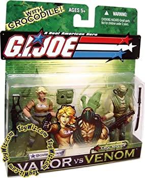 【中古】【輸入品・未使用未開封】G. I. JOE Hasbro Valor Vs. Venom 3 3/4 Scale 2Pack Bombstrike & Croc Master [並行輸入品]画像
