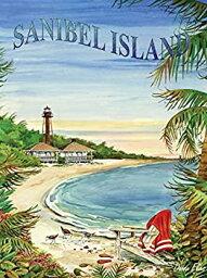 【中古】【輸入品・未使用未開封】Heritage Puzzle Sanibel Island - 550 Piece Jigsaw Puzzle. Measures 24%ダブルクォーテ% x 18%ダブルクォーテ% completed. Artist Donna Elias [並行輸
