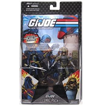 【中古】【輸入品・未使用未開封】G.I. JOE Hasbro 3 3/4%ダブルクォーテ% Wave 5 Action Figures Comic Book 2-Pack Cobra Commander and Tripwire [並行輸入品]画像