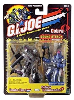 【中古】【輸入品・未使用未開封】Snake Eyes vs. Cobra Commander - G.I. Joe vs Cobra Action Figure [並行輸入品]画像