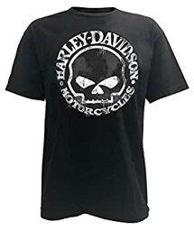 【中古】【輸入品・未使用未開封】ハーレーダビッドソンメンズTシャツ、Hand Made Willie G Skull Distressed 30294030 カラー: ブラック