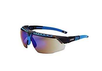 レディースファッション, その他 Uvex by Honeywell Avatar Safety Glasses Black Frame with SCT-Reflect 50 Lens Anti-Scratch Hardcoat (S2854)