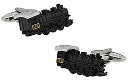 【中古】【輸入品・未使用未開封】Cuff-Daddyブラック 機関車 カフリンクス 化粧箱付き