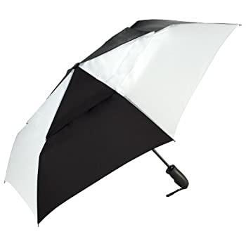 レディースファッション, その他 Shed Rain Windjammer Vented Auto Open Auto Close Compact Umbrella