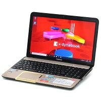 【中古】メモリ16GB大容量新品SSD東芝dynabookT552Corei73630QM4コア8スレッドBlu-rayWindows1015インチテンキー無線LANWebカメラBluetooth中古パソコンノートパソコン本体ゴールド