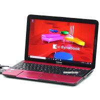【中古】メモリ16GB大容量新品SSD東芝dynabookT552Corei73630QM4コア8スレッドBlu-rayWindows1015インチテンキー無線LANWebカメラBluetooth中古パソコンノートパソコン本体ピンク