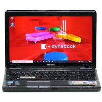 【中古】SSD搭載メモリ8GB東芝dynabookT551/T6DBCorei72670QM4コア8スレッドBlu-rayWindows1015インチテンキー無線LANWebカメラLibreOffice中古パソコンノートパソコン本体黒ブラック