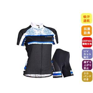 サイクルウェア レディース 夏用 サイクルジャージ セット 上下 サイクリング ウェア 女性用 自転車ウェア 半袖 ウエア 【送料無料】