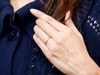 【送料無料】ピンキーリングハートオープンハートピンクゴールドk18リングダイヤモンドシンプル指輪華奢リング重ね付け指輪細め細身k18アンティークレディース