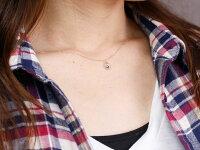 【送料無料】ピンクトルマリンピンクゴールドネックレスミル打ちペンダントドロップ型ダイヤモンドチェーン人気10月誕生石k18
