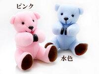 【送料無料】inoくまベビーリングネックレステディべアケースセット出産祝いピンクゴールドk18ペンダントブルートパーズ11月誕生石