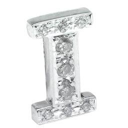 【ポイント10倍】メンズ ピンブローチ ラペルピン ダイヤモンド イニシャル I ホワイトゴールドK18 18金 男性用 タックピン ダイヤ 送料無料