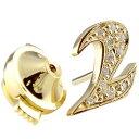 メンズ ピンブローチ ラペルピン ダイヤモンド 数字 ナンバー ゴールドk18 18金タックピン ダイヤ 男性用 送料無料