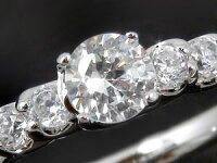 鑑定書付き婚約指輪プラチナエンゲージリングダイヤモンド0.53ct一粒大粒SIダイヤストレートレディースブライダルジュエリーウエディング