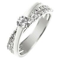 鑑定書付きエンゲージリング婚約指輪プラチナダイヤモンド一粒大粒ダイヤストレートレディースブライダルジュエリーウエディング